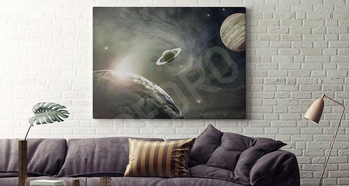 Obraz planety kosmosu