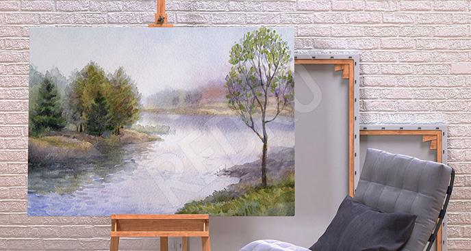 Obraz płynący potok