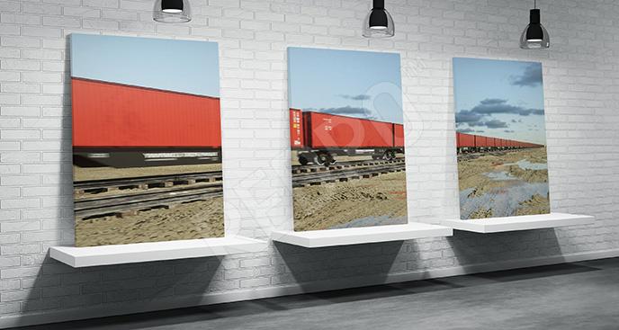 Obraz pociąg towarowy