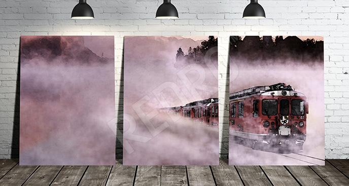 Obraz pociąg we mgle