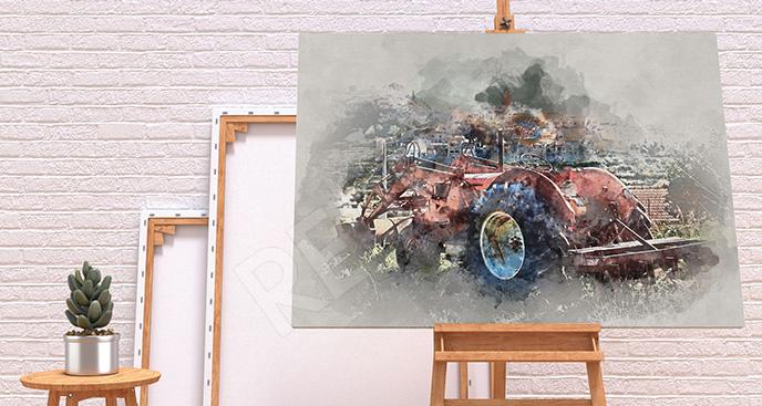Obraz pojazd na wsi