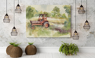 Obraz pojazd traktor