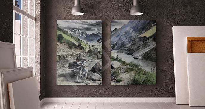 Obraz pojazd w górach