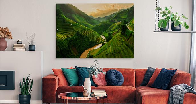 Obraz pola ryżowe