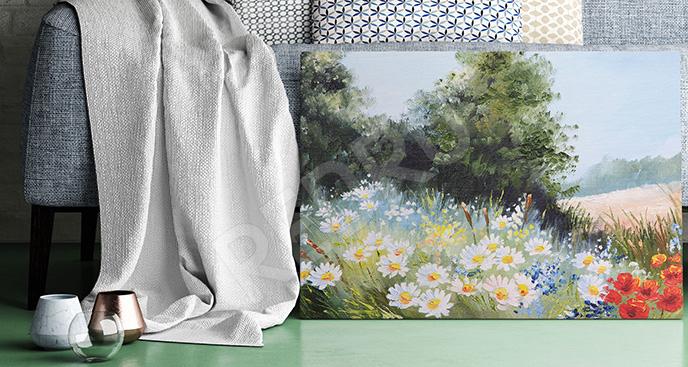 Obraz pole kwiatów
