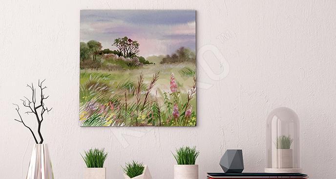 Obraz pole na wsi