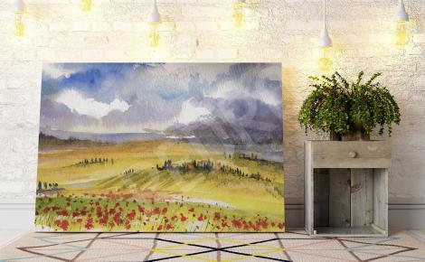 Obraz pole w Toskanii