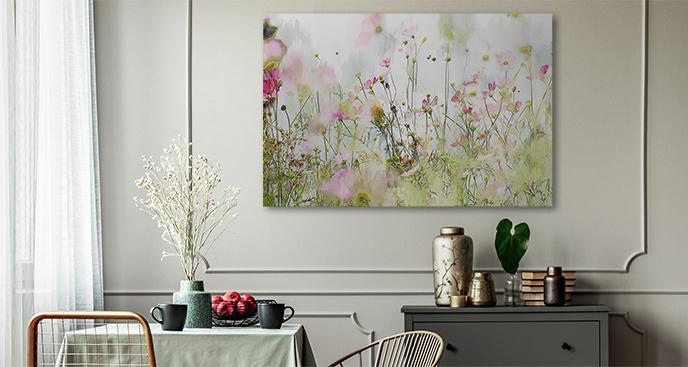 Obraz kwiaty w fiolecie