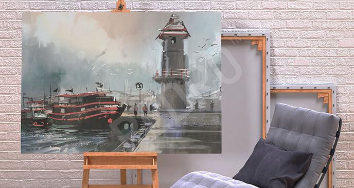Obraz port rybacki