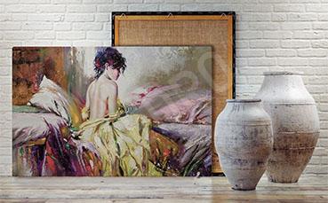Obraz portret nagiej kobiety