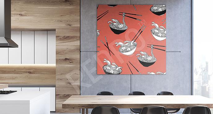 Obraz potrawy kuchni azjatyckiej