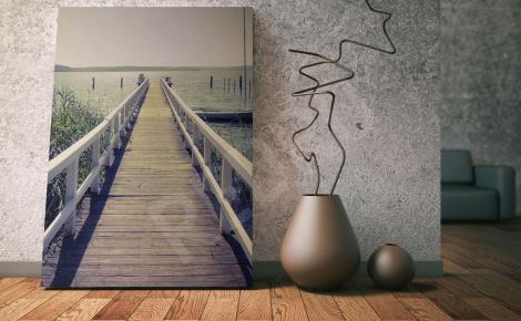 Obraz przestrzenny most