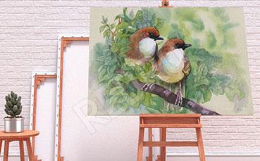 Obraz ptaki malarstwo