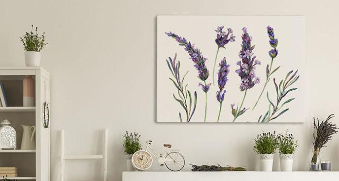 Obraz purpurowe kwiaty