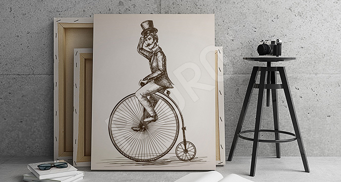Obraz retro bicykl