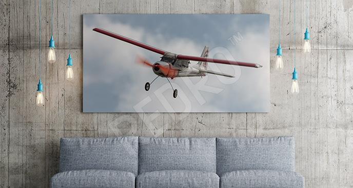 Obraz retro samolot
