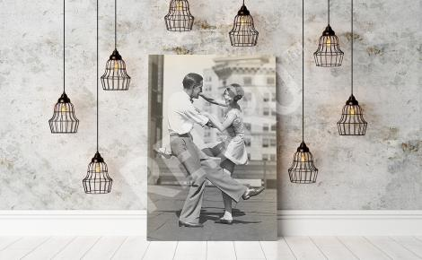 Obraz retro tańcząca para