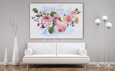 Obraz romantyczne kwiaty do salonu