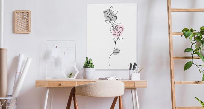 Obraz z kwiatami róż