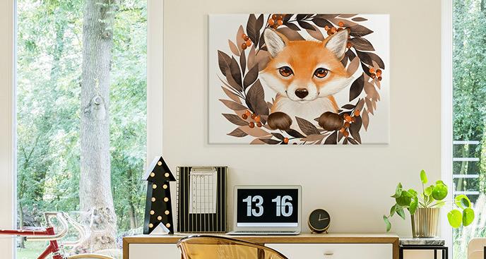 Obraz rudy lis