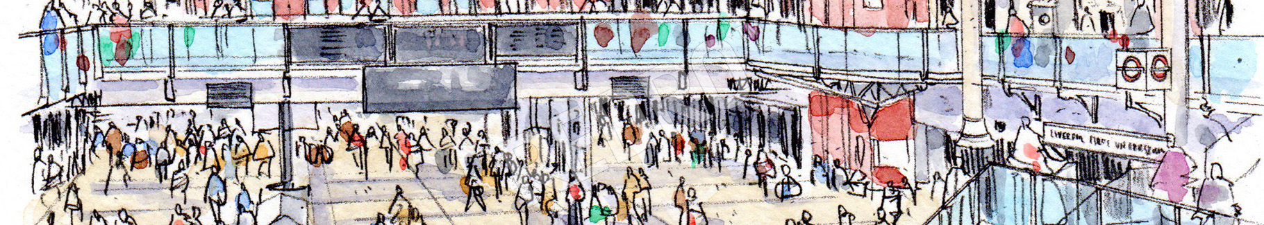 Obraz rysunkowy dworzec