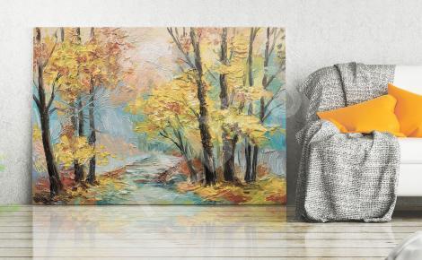 Obraz rzeka jesienią