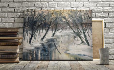 Obraz rzeka między drzewami