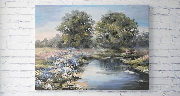 Obraz rzeka wiosną