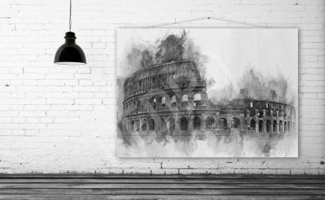 Obraz Rzym czarno-biały