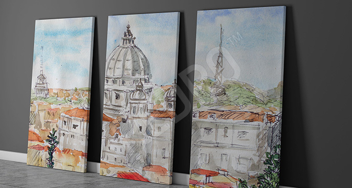 Obraz Rzym: widok na miasto