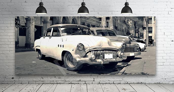 Obraz samochód w starym stylu