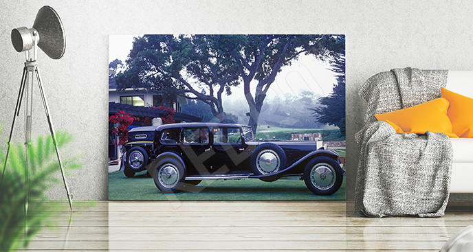 Obraz samochód w stylu retro