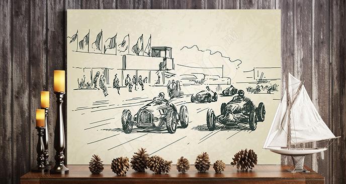 Obraz samochodów wyścigowych
