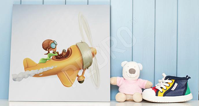 Obraz samolot do pokoju dziecka