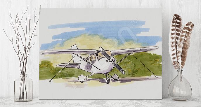 Obraz samolot ilustracja