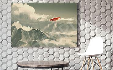 Obraz samolot w górach