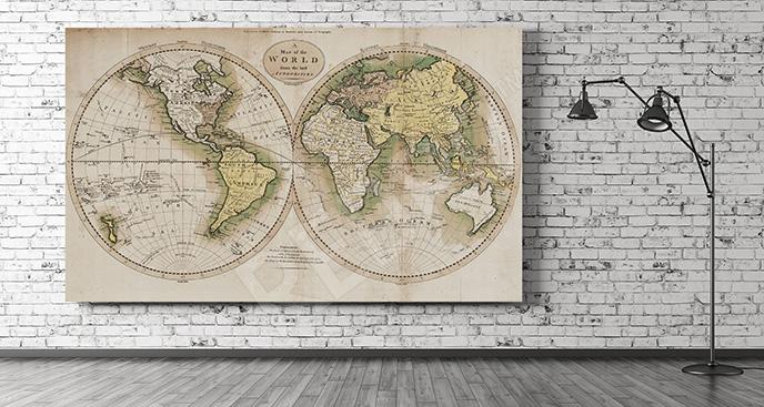 Obraz ścienny półkule ziemskie