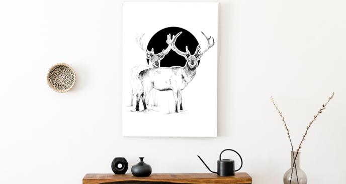 Obraz skandynawski z jeleniami