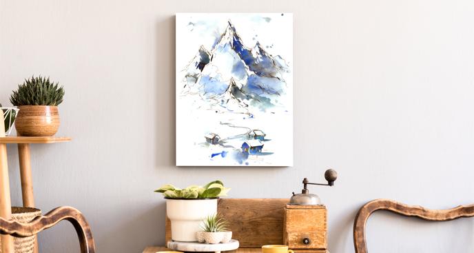 Obraz skandynawskie góry