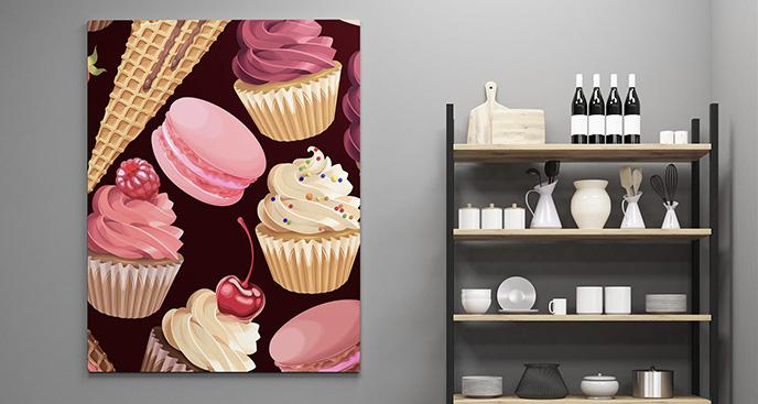 Obraz słodki deser