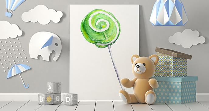 Obraz słodki lizak do dziecięcego pokoju