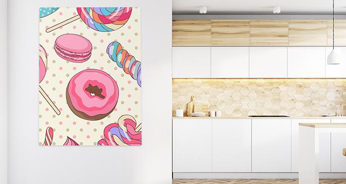 Obraz słodycze w stylu retro
