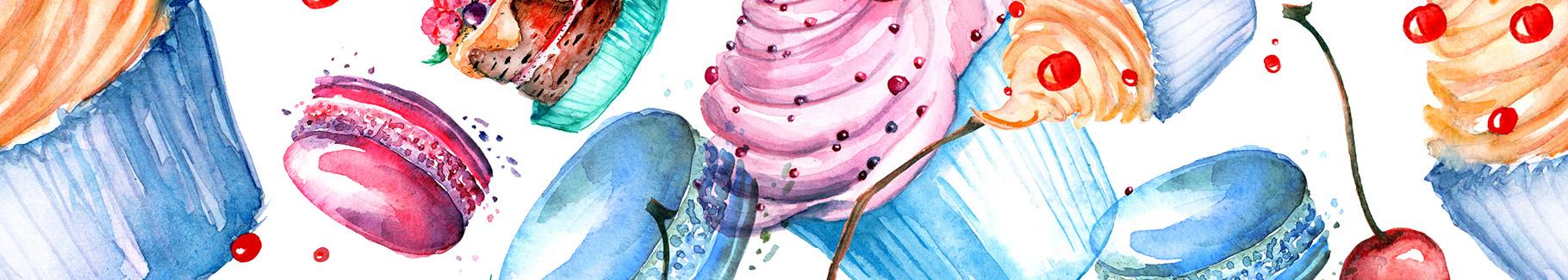 Obraz słodycze w stylu vintage