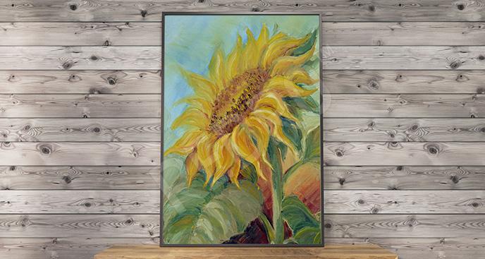 Obraz słonecznik na płótnie