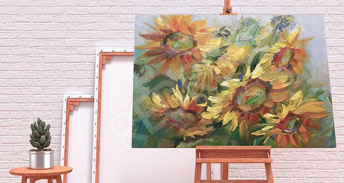 Obraz słoneczniki akwarela