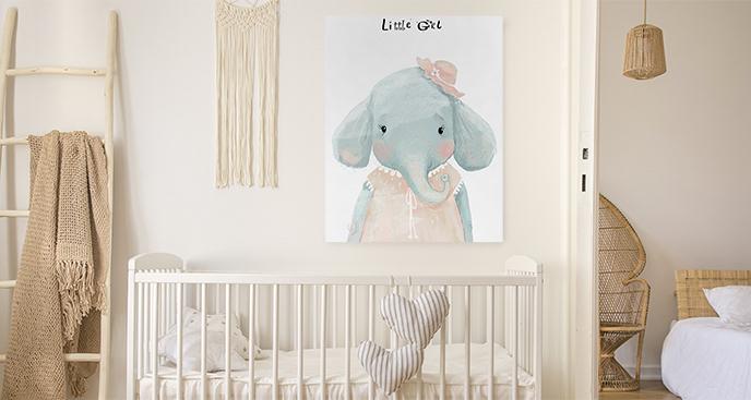 Obraz słonik do pokoju dziecka