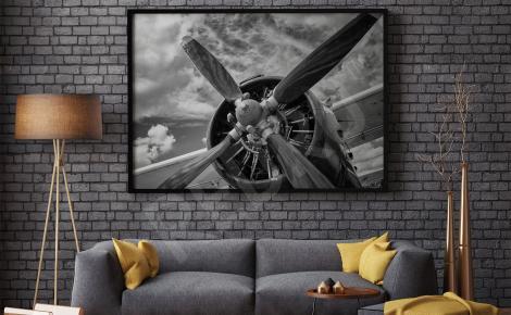 Obraz śmigło samolotu