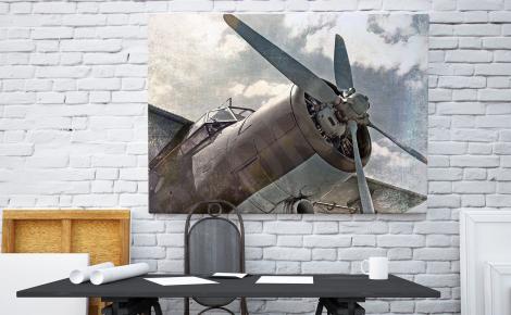 Obraz śmigłowiec retro