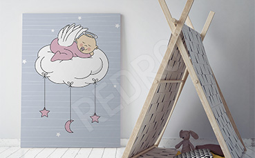 Obraz śpiący aniołek