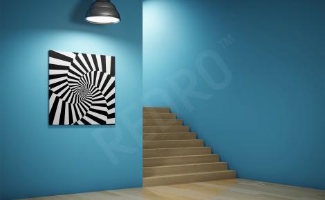 Obraz spiralne paski iluzja